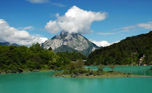 Monte Amariana from Lago Verzegnis