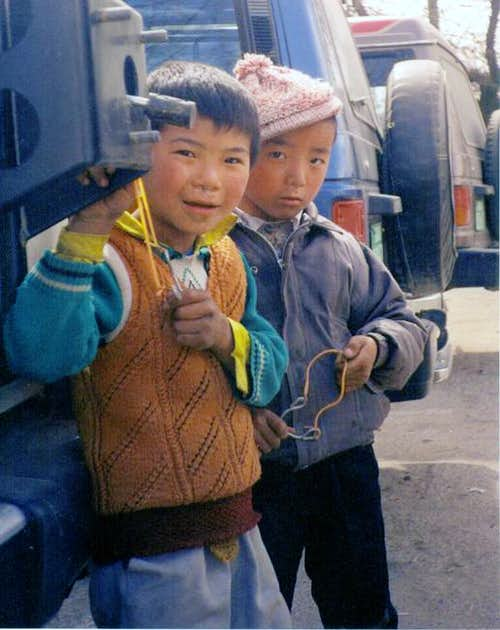 Street Boys of Lhasa,Tibet-...