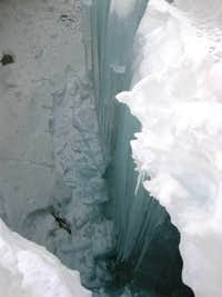 Crevasse on Huayna Potosi