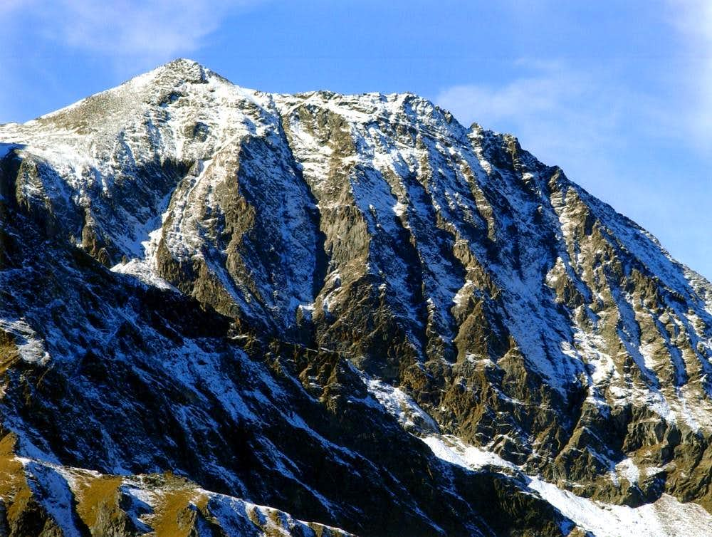 SALE's BECCA (3167m) East Face from traverse of  MOUNT CORQUET (2531m)