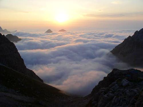 The morning wiev from Rifugio...