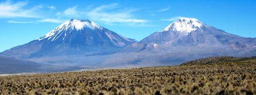 Parinacota and Pomerape