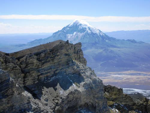 Sajama from the rim of Parinacota
