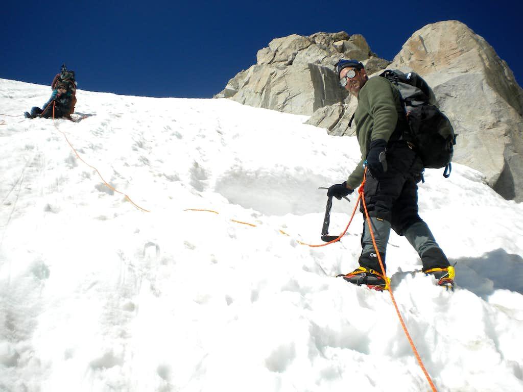 Gannett Peak Bergschrund Crossing