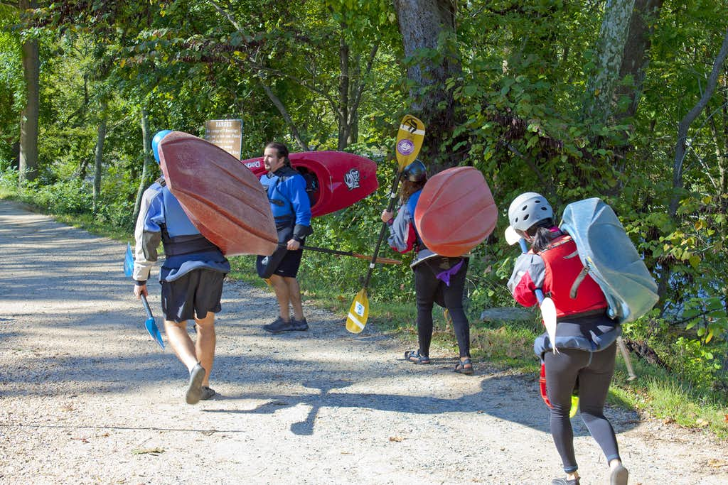Kayakers Heading to the Potomac River