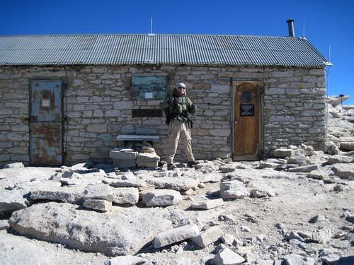 Myself in front of the Whitney Hut