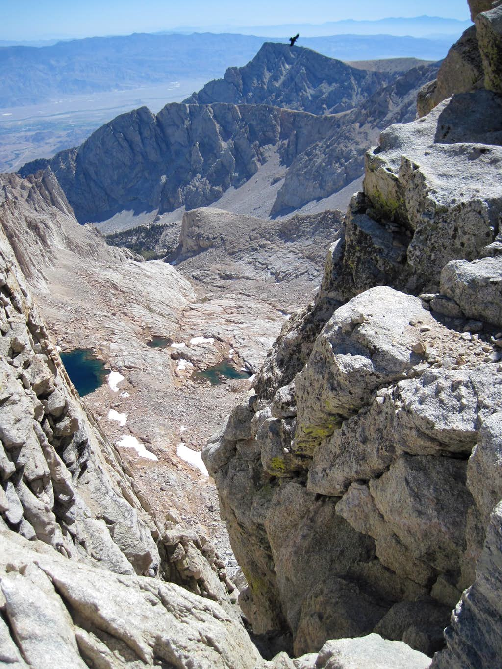 View from Whitney trail down to Owens Valley