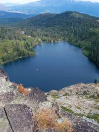 Looking down on Castle Lake...