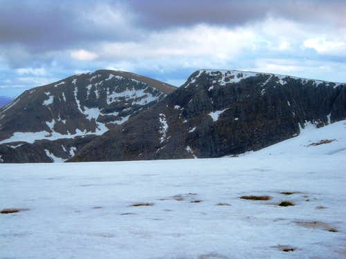 Cairn Toul and Sgor an Lochain Uaine from Braeriarch