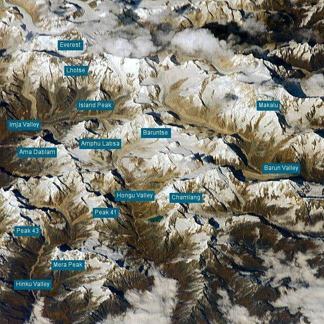 Satellite photo of the region...