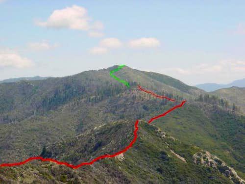 Pine Ridge Route shown in...