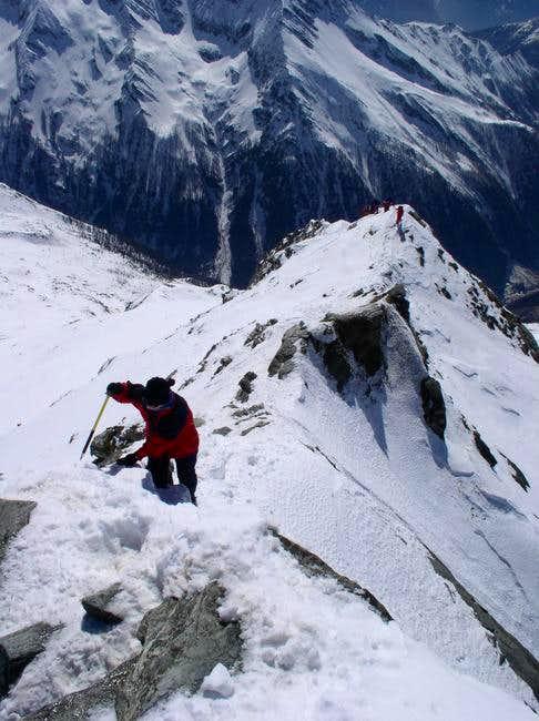 The Ankogel ridge in snow,...
