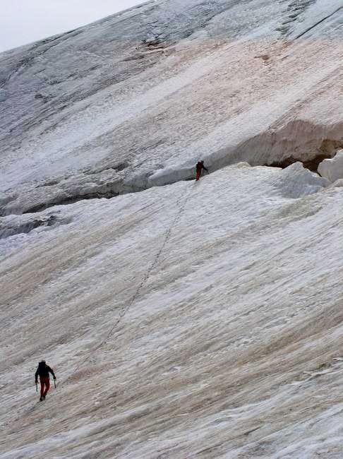 On the Marmolada glacier,...