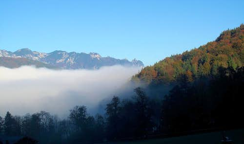 Autumnal morning in the Berchtesgadener Land...