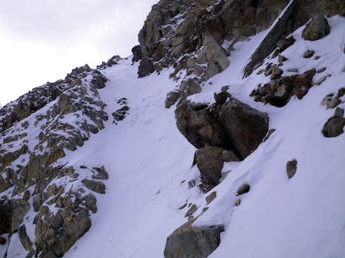 Final chute to summit
