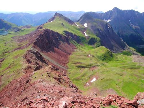 Looking southeast from the...