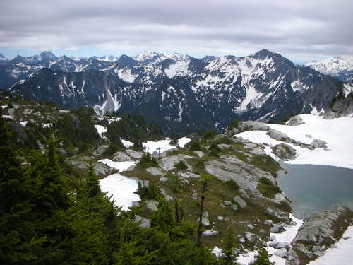 Looking over Thunder Lake towards Mac Peak