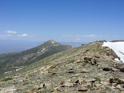 Looking at Greys Peak from the ridge near Peak 10745