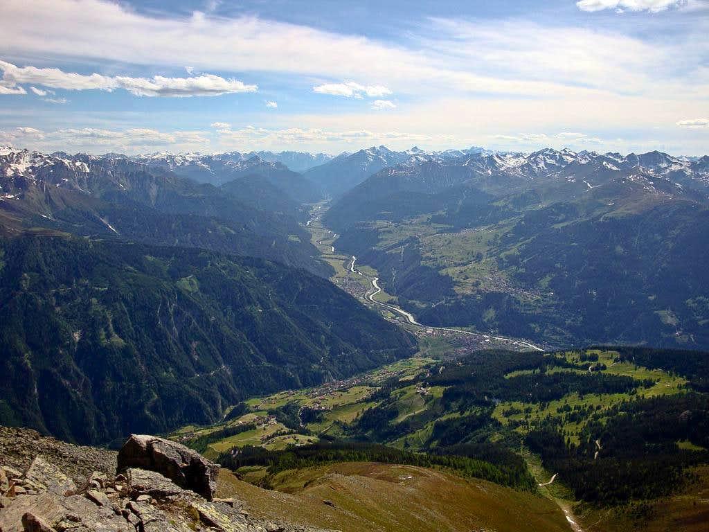 Hohe Aifner Spitze summit view (SW)