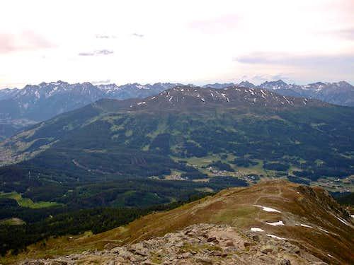 Trail below the Niedere Aifner Spitze