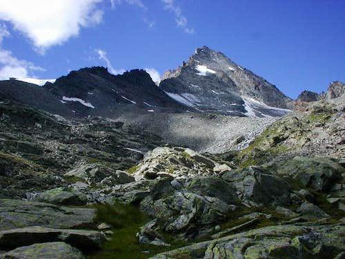 Herbetet <i>(3778m)</i> from the route to Leonessa Bivouac