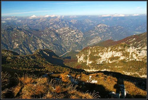Lago di Selva from Monte Raut