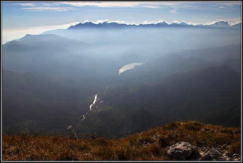 Monte Cavallo - Col Nudo range from Monte Raut