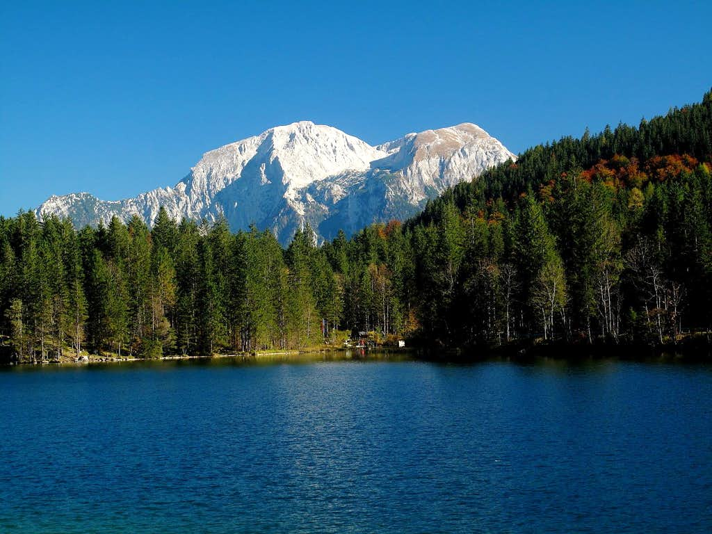 lake hintersee with hoher g ll and hohes brett in the background photos diagrams topos. Black Bedroom Furniture Sets. Home Design Ideas