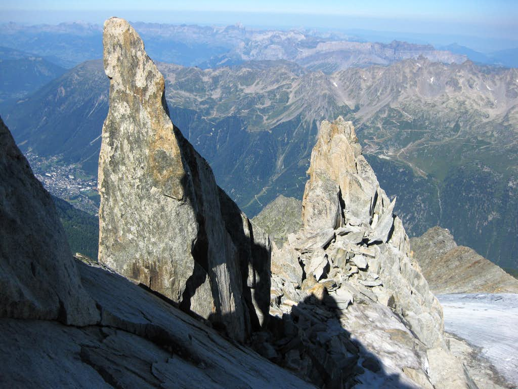View to the north from the slopes of Petite Aiguille Verte