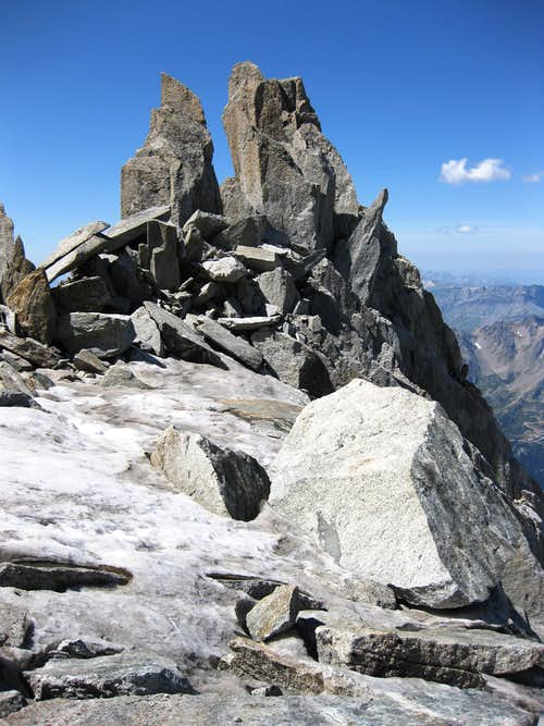 On the slopes of Petite Aiguille Verte