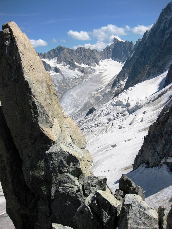 The glacier east of Petite Aiguille Verte