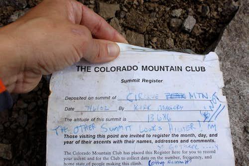 Summit registry