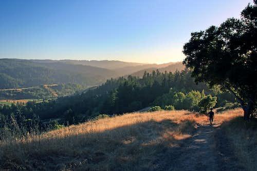 Descending San Geronimo Ridge
