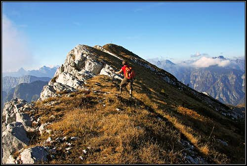 The summit of Monte Raut