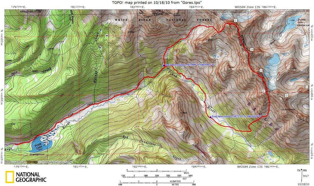 Ripsaw Ridge Topo