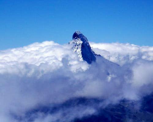 The Matterhorn in cloud from...