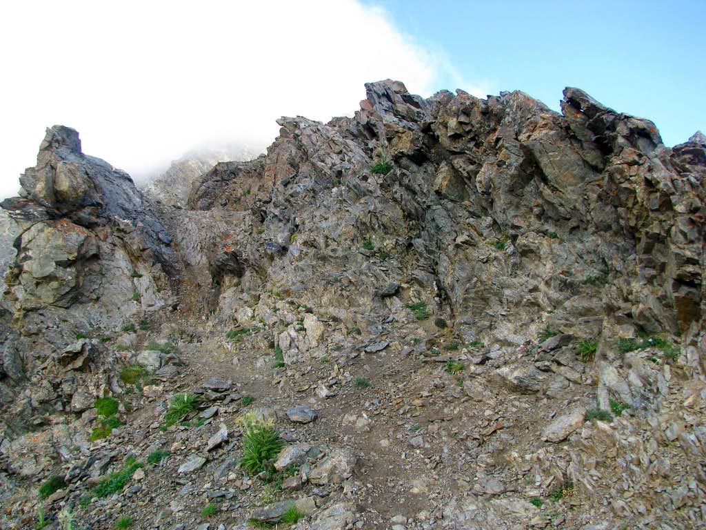 Typical jagged rocks