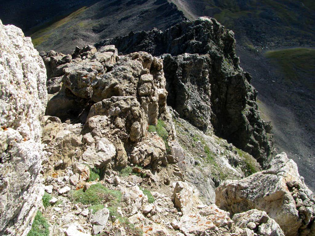 Looking Down Kelso Ridge