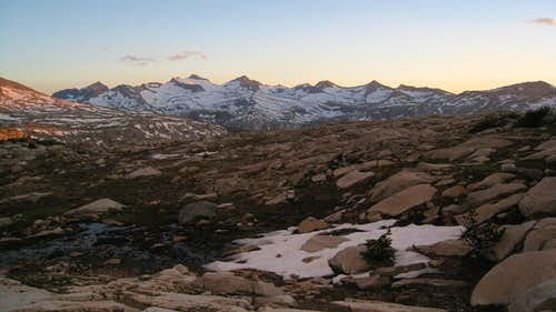 Sunset on the Cathedral Range