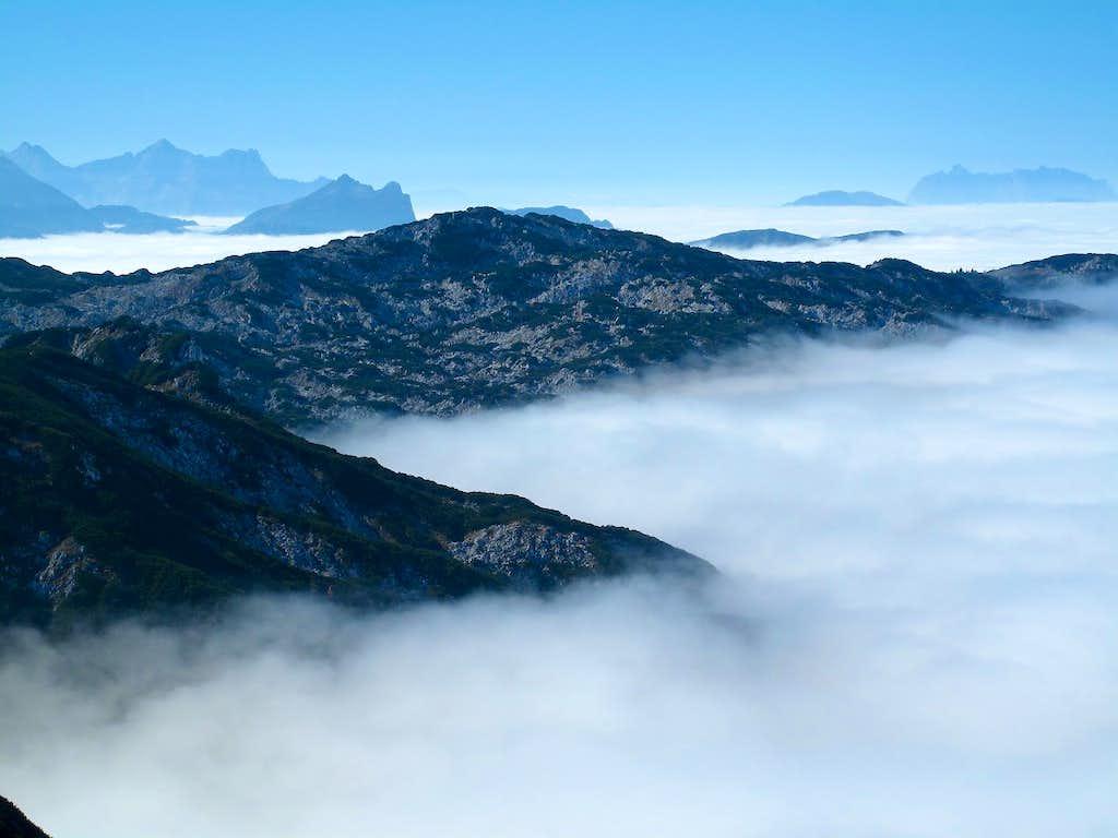 Fog rising in on the Untersberg...