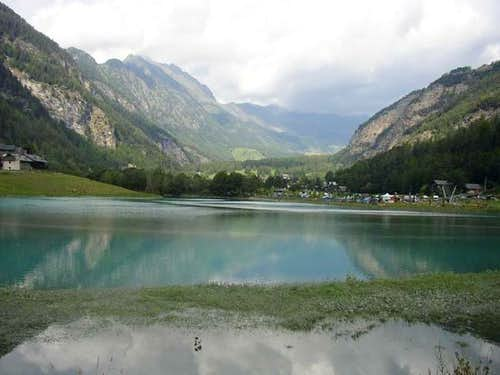 Val d'Ayas, Brusson. The top...