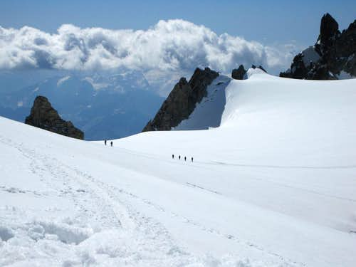 The slopes of Mont Blanc