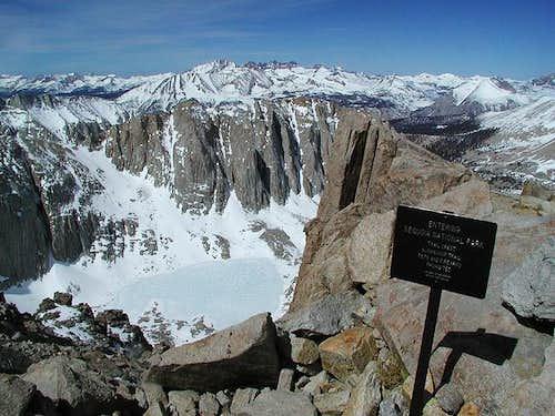 Just below Trail Crest...