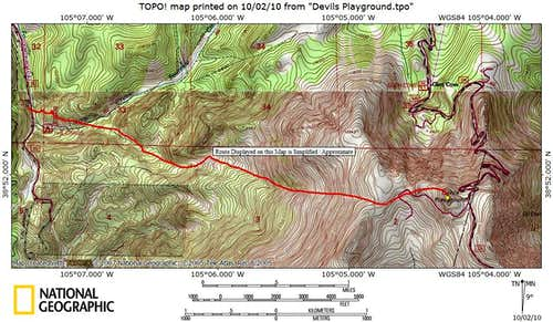 Western Slopes Route Map