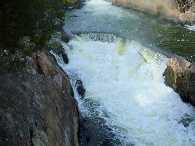 Waterfall on the boardwalk to...