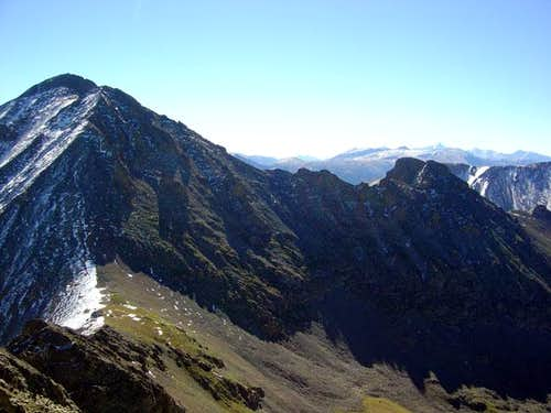 Mount Richthofen (left) and...