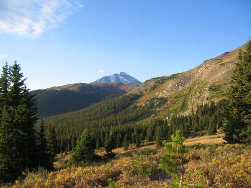 Looking at Elbert from Massive\'s trail