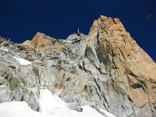 Aiguille du Midi from Vallee Blanche