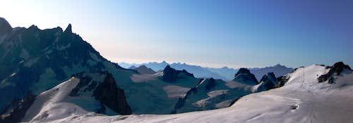 Dent du Geant and Glacier du Geant