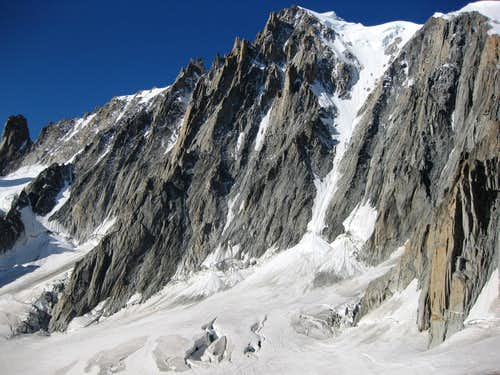 Mont Blanc du Tacul from Vallee Blanche